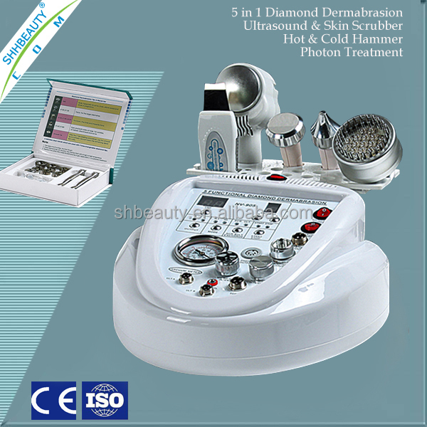 professional microdermabrasion crystal and diamond head skin peeling machine CE approval