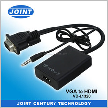 1080P VGA To HDMI HD Audio TV AV HDTV Video USB Cable Converter Adapter For PC
