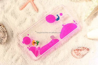 liquid flowing dolphins 3D glitter hard cover case for Samsung galaxy not 3