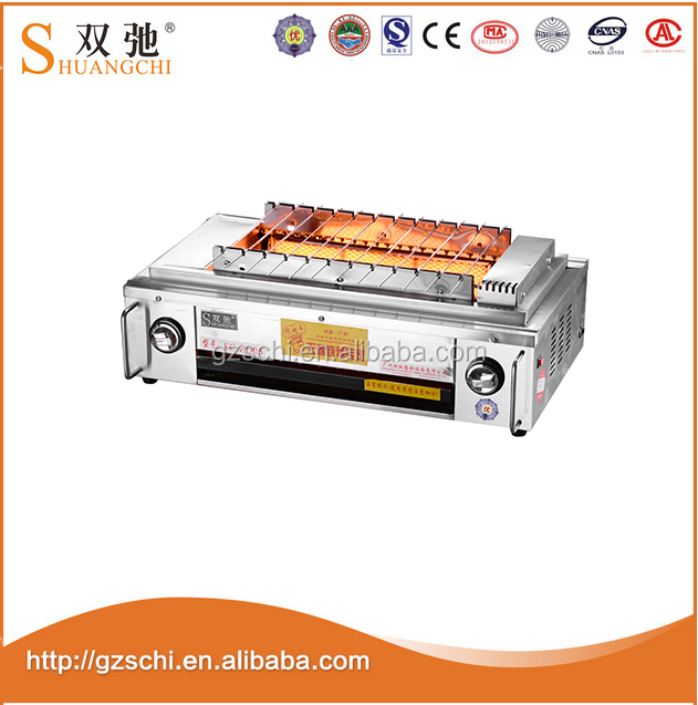 Stainless steel gas grill smokeless automatic tabletop korean bbq grill with fan SC-ZD05