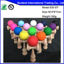High quality football wooden kendama with best price from Honrui kendama factory