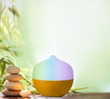 Wholesales Best Quality Air Humidifier and Purifier, 130ml Electric Ultrasonic Aroma diffuser with Colorful Led Light