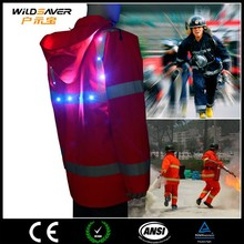 led safety reflective red security uniform/photographer vest jacket