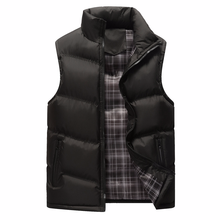 <strong>OEM</strong> men's winter pure color sleeveless collar, zipper cotton padded jacket and cotton vest.