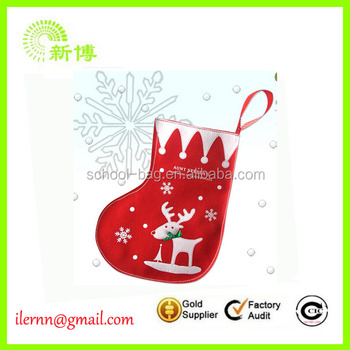 2017 Good quality embroidery christmas sock