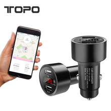 Bluetooth GPS 12V ~ 24V 2 in 1 Fast Charger Dual USB Mobile Phone Car Charger Adaptor with LED screen