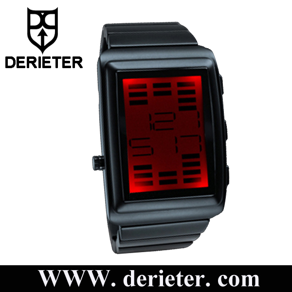 USB Rechargeable Sound Sensitive LED Watch Reacts to Music and Ambient Sound
