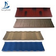 New Design Insulated Colorful Stone Coated Metal Roof Tile Made in China
