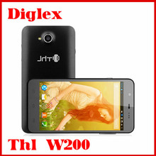 "Original ThL W200 Smart Mobile Phone MTK6589T Quad Core 1.5GHz 5.0"" IPS 1G RAM 8G ROM Android 4.2 GSM 3G WCDMA Smartphone Black"