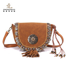 The Most popular ethnic wayuu tassels crossbody handbags with metal chain strap