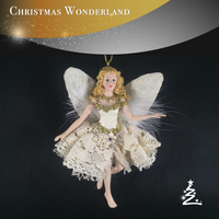 white wing flying fairy for christmas ornament