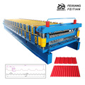 Sheet double layer roof panel forming machine