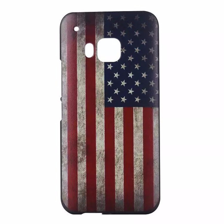 American US Flag Printable Mobie Phone Case Hard Plastic Cover for HTC ONE M9