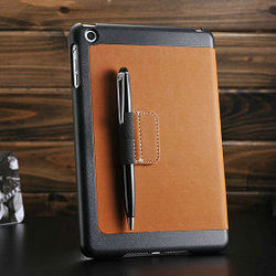 high quality factory notebook case for ipad mini, stand cover for ipad mini