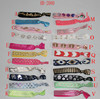 Customized Design Logo Print Knotted Flat Elastic Hair Ties