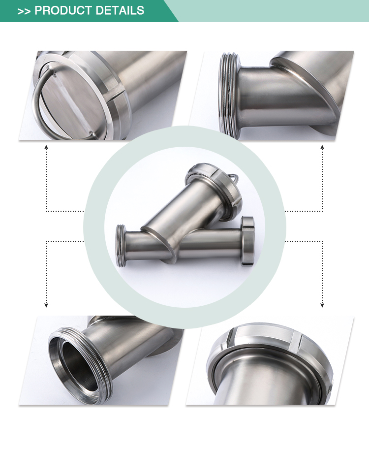 Low price reasonable structure stainless steel sanitary Y type sanitary filter