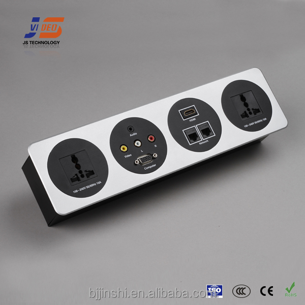 JS-FT with CE Office desk power usb multi connector power supply socket outlet