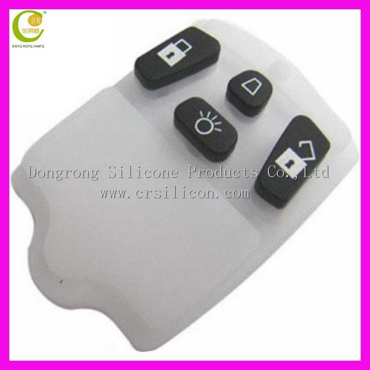 Custom silicone rubber key buttons for remote/ switch/ phone/ car