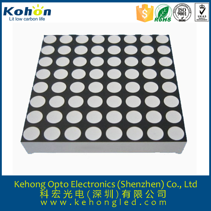 Good quality ROHS Approved LED Dot Matrix 1.9mm 3mm 5mm 8x8 led dot matrix display