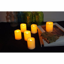 Battery-operated Tea Lights with Remote and Timer Realistic Flickering Flameless Candles LED Votives Battery Candle Electronic C