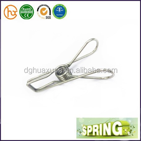 Cheap Hanging v shape spring loaded clips