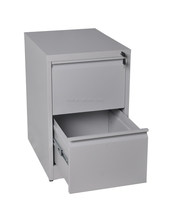 Commercial Office Furniture 2 Drawer Vertical Steel Filing Cabinet/ Vertical Drawer Hanging Storage Documents Metal Cabinet