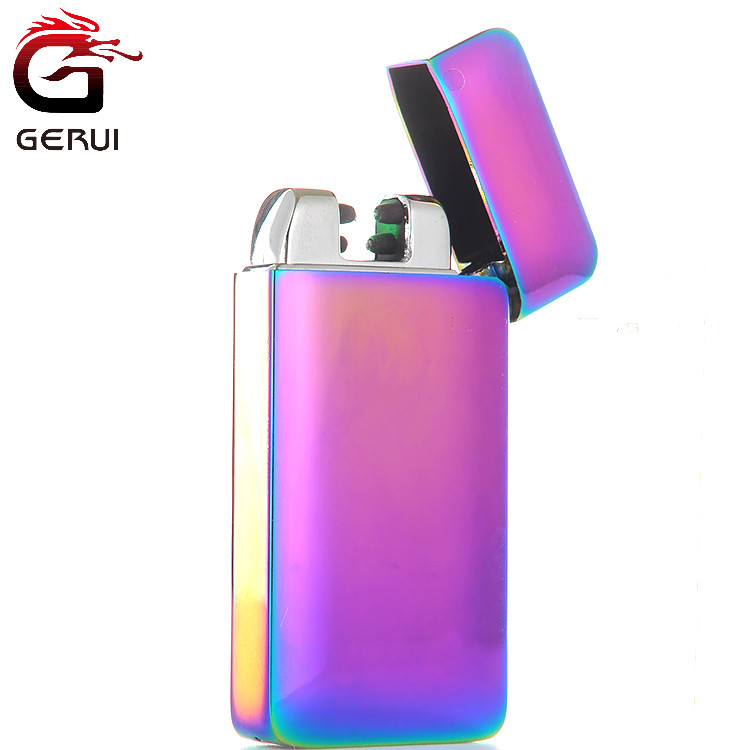 Jinlun flameless usb infrared ray induction double arc cigarette lighter