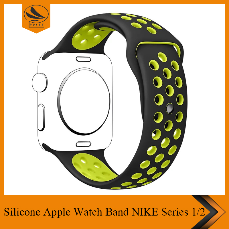 Soft Silicone Replacement Sport Strap Watch Band for Apple iWatch M/L Edition Sport & Apple watch NIKE Series 1 and Series 2