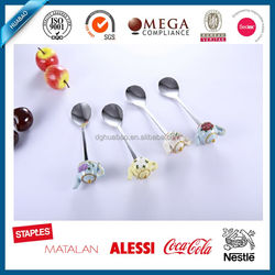 hot sale stainless steel set custom spoon and fork with polyresin handle