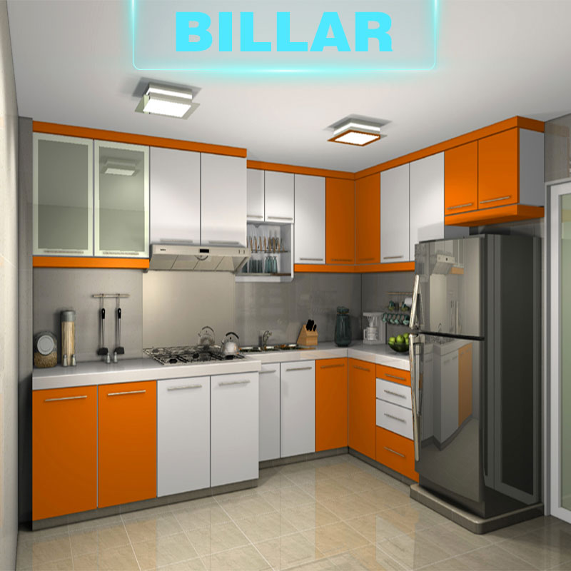 prefab model modern kitchen cabinets in china