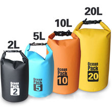 OEM Custom logo waterproof dry bag 500D PVC tarpaulin 15L ocean backpack durable floating pack for swimming drifting