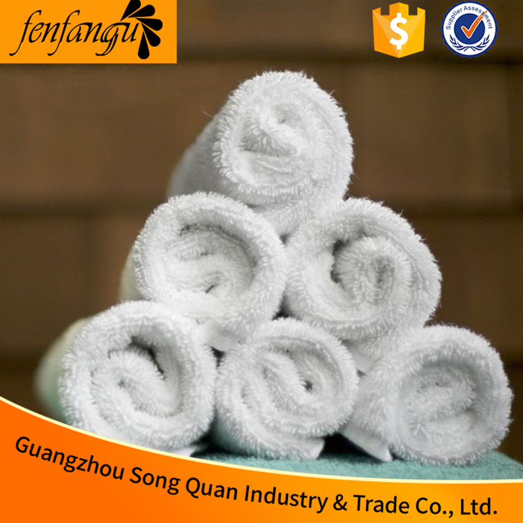 White Custom 100% cotton Face Cleaning white face towel