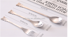 high quality children stainless steel cutlery/dinner plates set