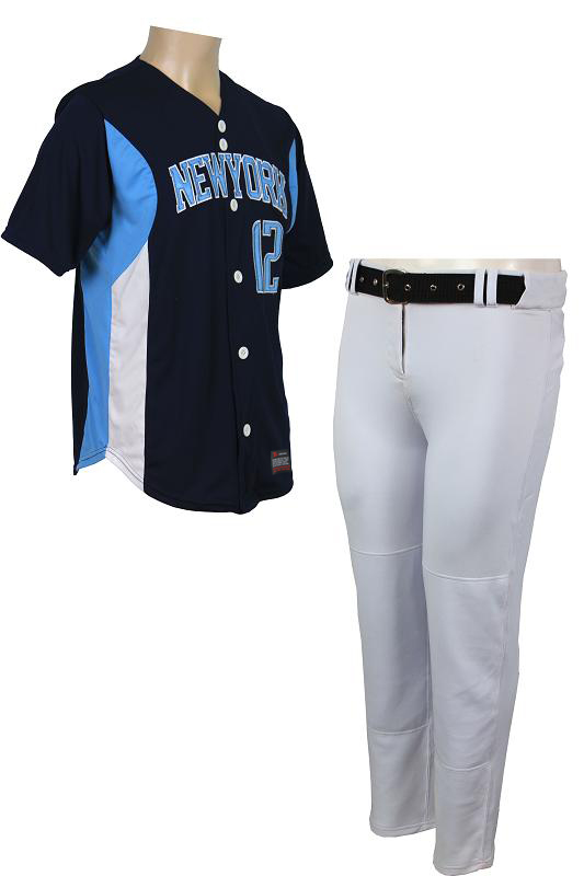 CUSTOM NEWYORK BASEBALL UNIFORMS WITH TACKLE TWILL NUMBERS , High quality product. PayPal Accepted
