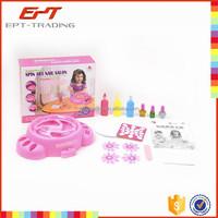 Educational spin art nail salon children diy nail set toys