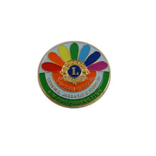 High qaulity brass metal lapel pin badge for international lions club