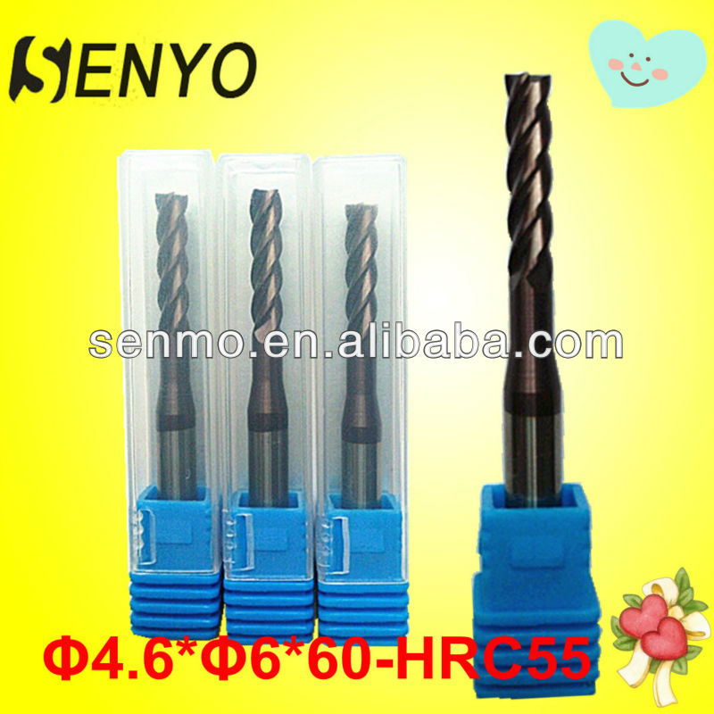 Micro Carbide Cutting Tools 4 Flutes Indexable End Mills In Milling Cutter/Tungsten Carbide CNC End Mill Face Milling Cutter
