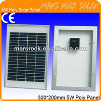5W 18V Poly Crystalline PV Solar Module with Aluminum Alloy Frame, CE,TUV,RoHS,UL Certificates