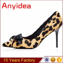 Ladies high heels Butterfly shoes Leopard shoes for 15cm high heels