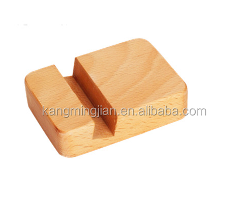 High quality wooden phone holder , wooden mobile phone base