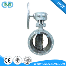 CF8M Double Eccentric 3 inch 4 inch Hand Wheel Double Flanged Butterfly Valve