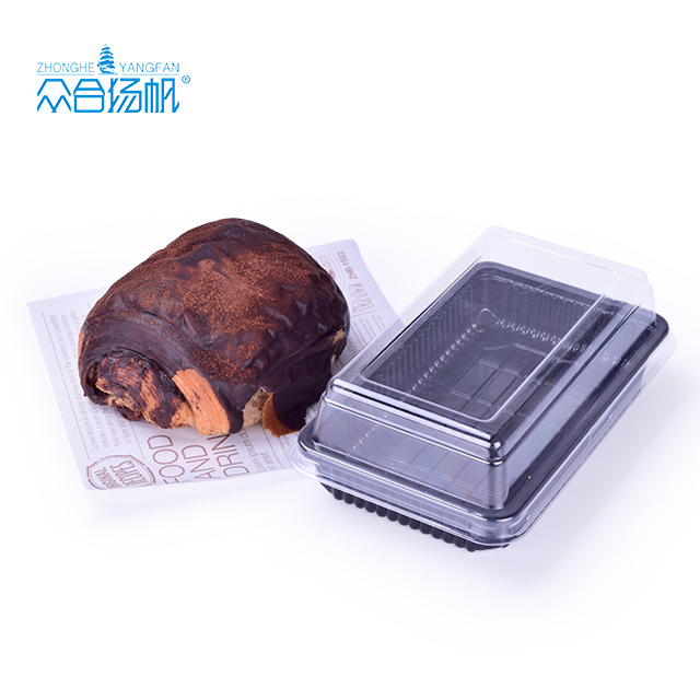 Cheesecake, slice cake custom packaging food box plastic box for bakery container