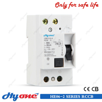 HE06-2 Residual current circuit breaker,automatic self reclosing rccb/elcb,rccb with good price
