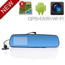 New Low price Android 4.0.3 rear view GPS navigation Bluetooth Wifi 1080p gps car recorder v1000gs