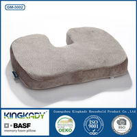 KINGKADY Cheap Wholesale Bamboo Memory Foam Decorative Spine Care Buns Shape Seat Mats