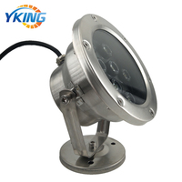 304 Stainless Steel IP68 Waterproof 12V RGB underwater led light ball water fountain