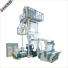 Double Compound Bubble Making Cling Extruder Automatic Hot Shrink Packing Film Cutting And Rewinding Machine