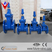DIN F4 Stem Cap Operated NBR Seat Gate Valve