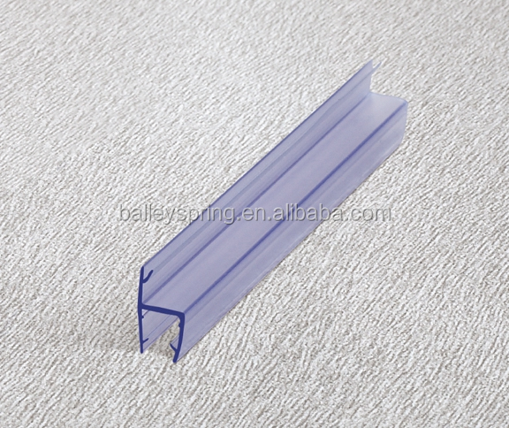 6mm B003A soft and hard lip 180 degree side Shower Door Water Strip,Plastic rubber seal Glass Sealing Strip