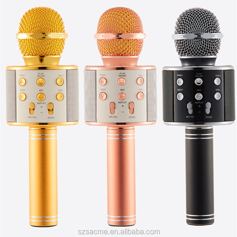 WS-858 handheld condenser karaoke bluetooth KTV wireless microphone